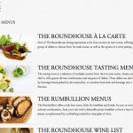 The Roundhouse Restaurant - Menu Overview Page - Clickshape