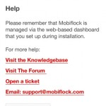 Mobiflock Mobile Application UI - Help View - Clickshape